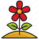 flower, nature, spring, weather icon