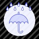 downpour, humid, meteorology, rain, rainy, time, umbrella, weather