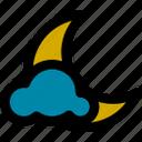 cloud, cloudy, moon, night, summer, weather, winter