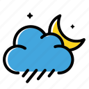 cloud, night, rain, weather