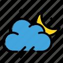night, storm, thunder, weather