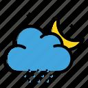 cloud, night, snow, weather