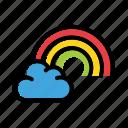 cloud, rainbow, weather