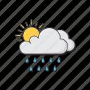 sun, cloud, rain, weather