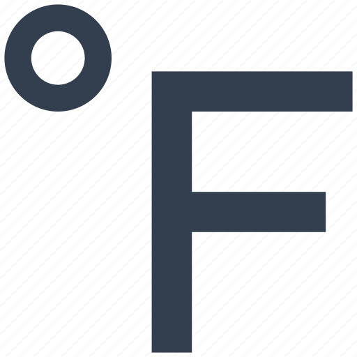 degrees, fahrenheit, temperature, thermometer icon