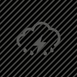 cloud, heavy, rain, raining, storm, weather icon