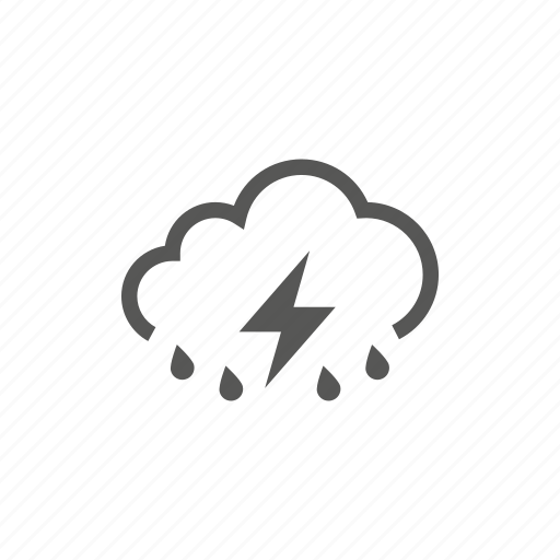 cloud, heavy, rain, raining, storm, weather icon