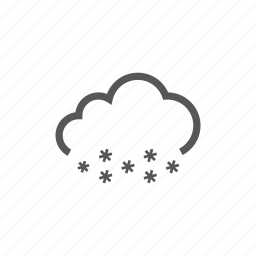 cloud, heavy, snow, snowing, weather icon