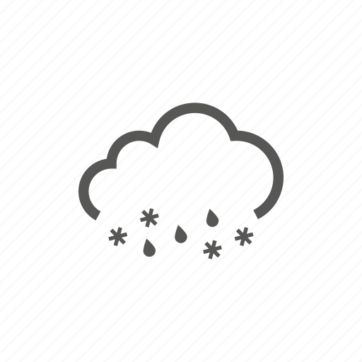 cloud, rain, raining, snow, snowing, weather icon