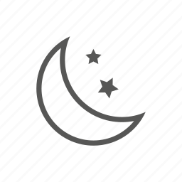 dark, moon, night, stars, weather icon