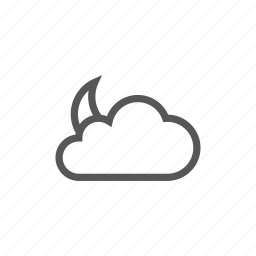 cloud, moon, night, weather icon