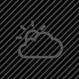 partial, sun, weather icon