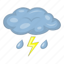 cloud, rain, thunderstorm, weather icon