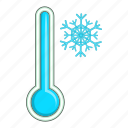 cold, temperature, thermometer, weather icon