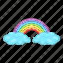 cloud, rainbow, weather, sun