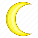 crescent, moon, night, weather