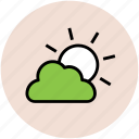 bright day, climate, cloud, forecast, sun, sunny day, weather icon