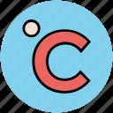 celsius, centigrade, degree, forecast, meteorology icon