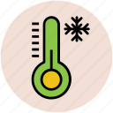cold, snow falling, snowflake, temperature, thermometer, winter icon