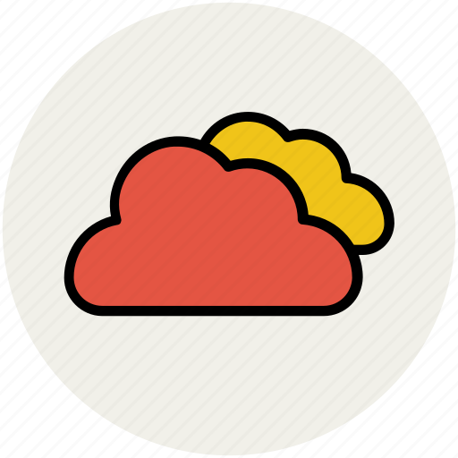 clouds, cloudy weather, forecast, sky clouds, weather, weather outlook, weather prediction icon