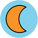 crescent, lunation, moon, moonlight, night, satellite icon