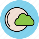 cloud, full moon, nature, night, nighttime, weather icon