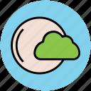 cloud, full moon, nature, night, nighttime, weather icon