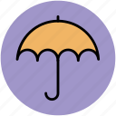 open umbrella, parasol, protection, shade, sunshade, umbrella icon