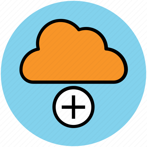add sign, cloud, cloud computing, cloud network, modern technology icon