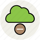 cloud, cloud computing, cloud network, modern technology, remove sign icon