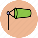 air sleeve, airsock, meteorology, visual signal, wind cone, wind gauge, wind sleeve, windsock icon