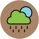cloud, forecast, full moon, nature, night, rain, raining, weather icon