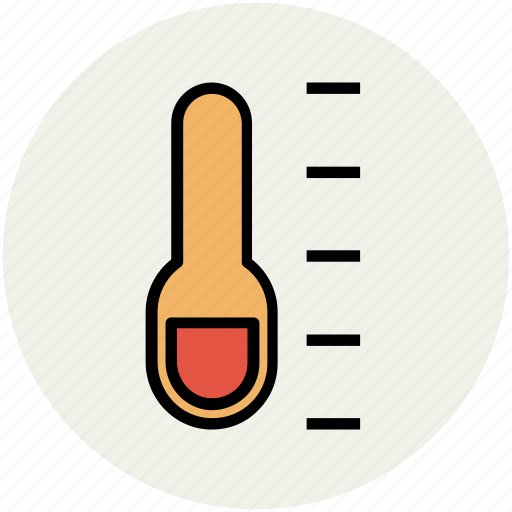 cold, hot, temperature, thermometer, wall thermometer icon