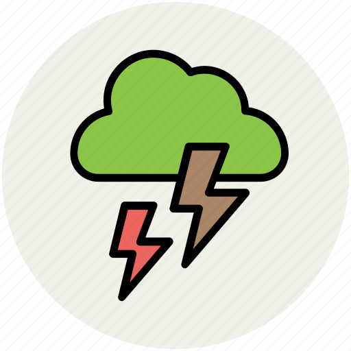 clouds, lightning, thunder, thunderstorm, weather, weather outlook, weather prediction icon