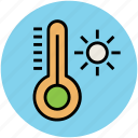 hot, instrument, summer, sun, temperature, thermometer icon