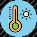 hot, instrument, summer, sun, temperature, thermometer icon