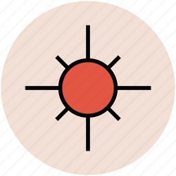 bright day, hot day, morning, summer, sun, sunny day, weather icon