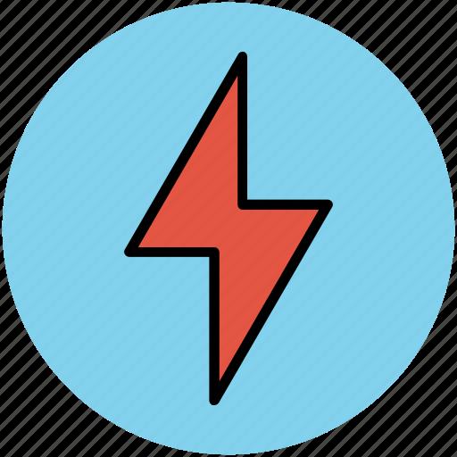 flash of lightning, flash sign, lightning, thunder, thunderbolt icon