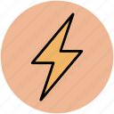 flash of lightning, flash sign, lightning, thunder, thunderbolt icon
