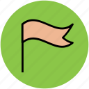 flag, fluttering flag, location flag, location sign icon