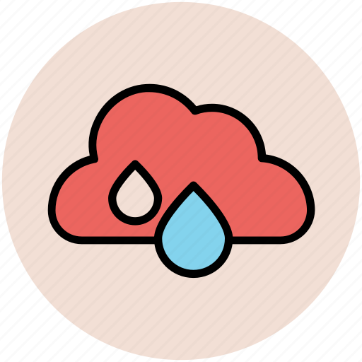 cloud, forecast, nature, rain drops, rainy weather, weather icon