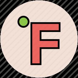 celsius, centigrade, degree, fahrenheit, temperature, temperature scale icon