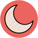 crescent moon, lunation, moonlight, new moon, satellite icon
