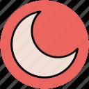 crescent moon, lunation, moonlight, new moon, satellite icon