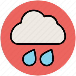 cloud, forecast, rain drops, weather, weather update icon
