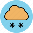 climate, cloud, snow falling, weather, weather prediction, winters icon
