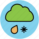 cloud, rain, snowfall, weather, weather forecast, winter icon