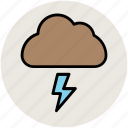 cloud, lightning, nature, storm, thunderbolt, thunderstorm icon