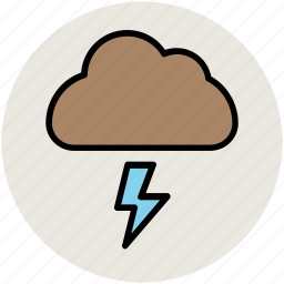 cloud, lightning, nature, storm, thunderbolt, thunderstorm icon
