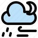weather, forecast, night, climate, cloud, moon